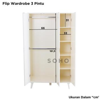 Flip Wardrobe 3 Pintu