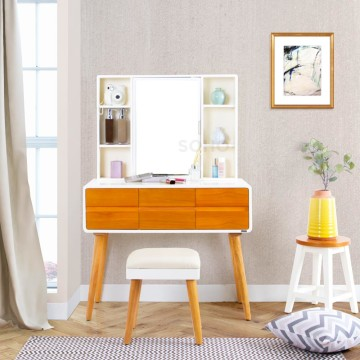 Cathy Dressing Table Two Tone