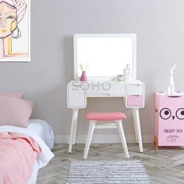 Andrea Dressing Table Pink