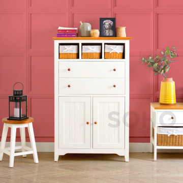 Adante High Cabinet Natural Rattan