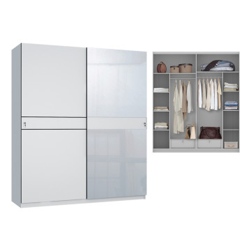 Lington Sliding Wardrobe White Glossy