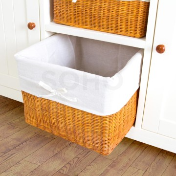 Adante 2 Baskets Natural Rattan