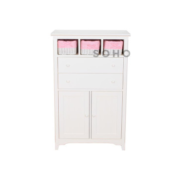 Adante High Cabinet Ivory Pink