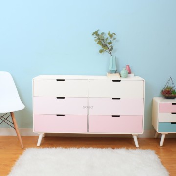 Sunny 6 Drawers Pink