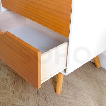 Modern 4 Drawers Natural