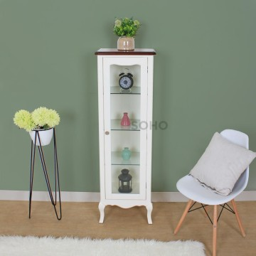 Vienna Display Cabinet High Top Brown