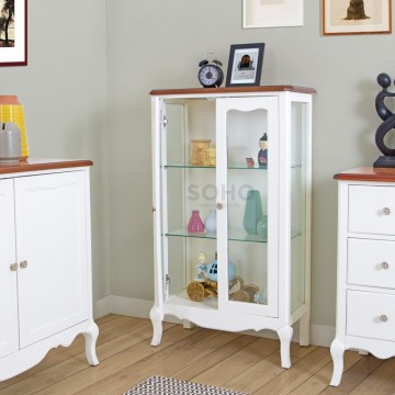 Vienna Display Cabinet Wide Top Brown