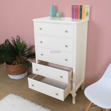 Vienna 5 Drawers Ivory