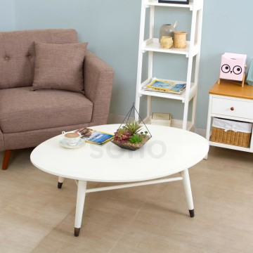 Piccolo Oval Table Ivory