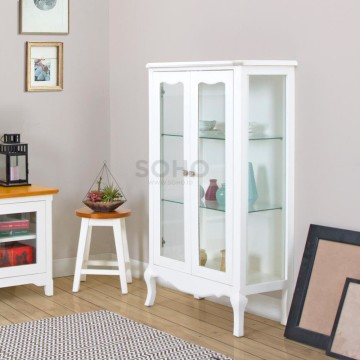 Vienna Display Cabinet Wide Ivory