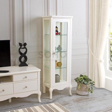 Vienna Display Cabinet High Ivory
