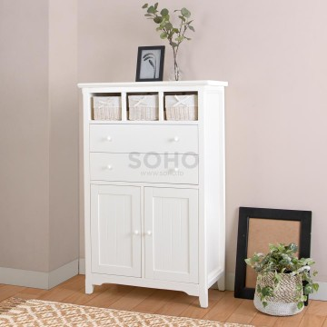 Adante High Cabinet Ivory