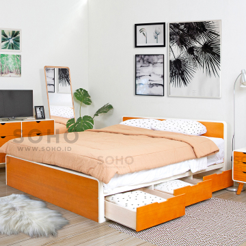 Helsinky Bed 160 x 200 Two Tone