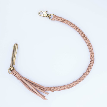 8 STRAND BRAIDED LEATHER WALLET CHAIN