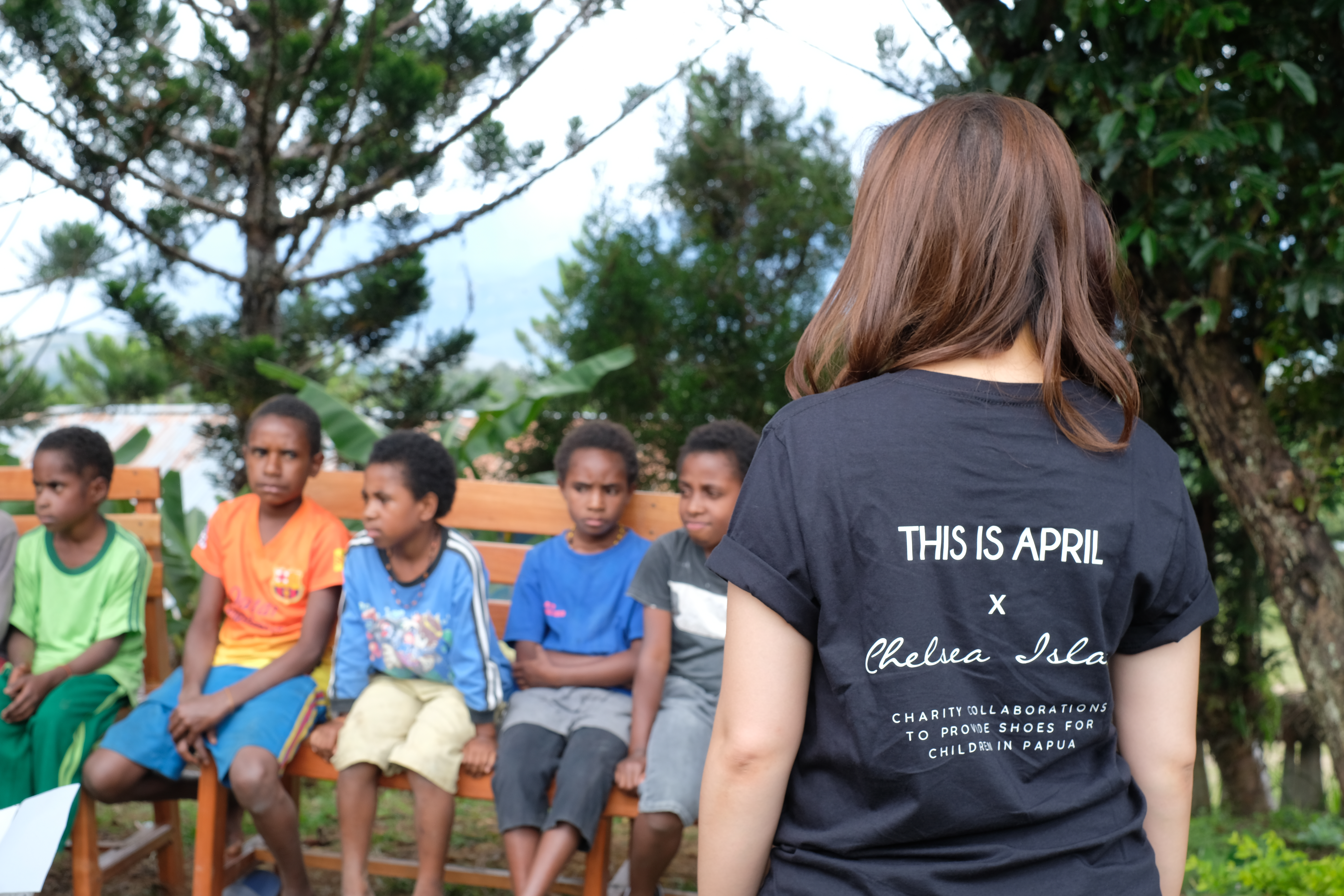 THIS IS APRIL X CHELSEA ISLAN GOES TO PAPUA TO DELIVER SHOES FOR CHILDREN IN WAMENA AND SENTANI image