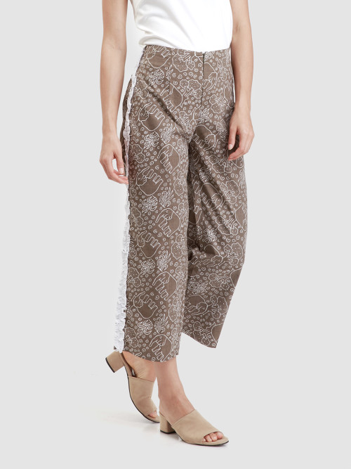 Laya Long Culottes in Olive image